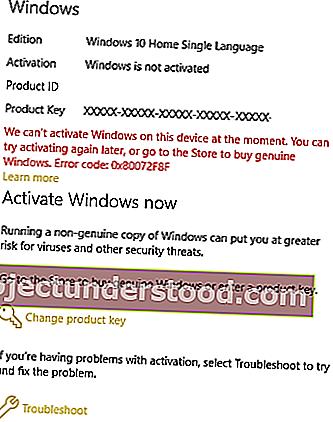 إصلاح خطأ 0x80072f8f لـ Windows Update التنشيط متجر Microsoft
